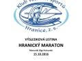 2016 Výsledky Hranický maraton